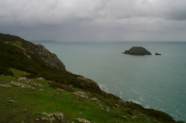 View of Gull Rock from Nare Head
