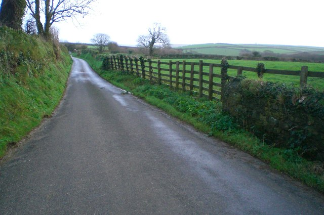 View east down the road from Tippetts Shop
