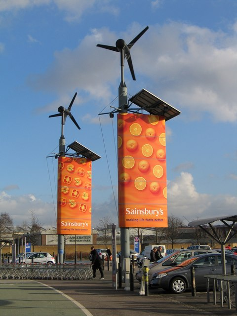 Wind Turbines, Sainsbury's Greenwich