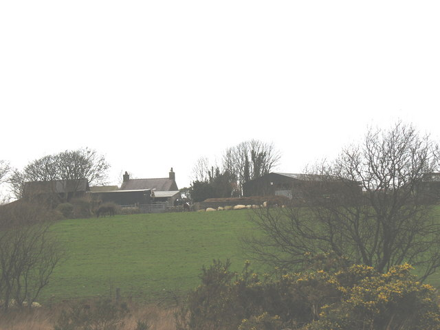 The rear view of Cae Dicwm Farm