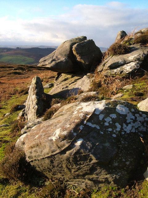 Rocks on Bieldy Pike