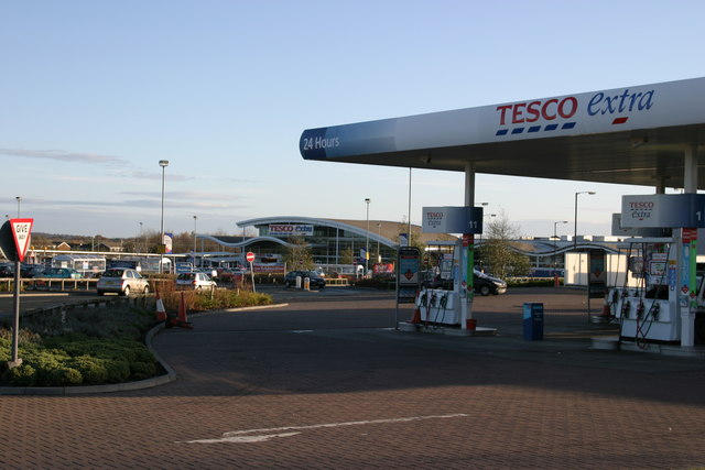 Tesco's and petrol station, Kingston Park