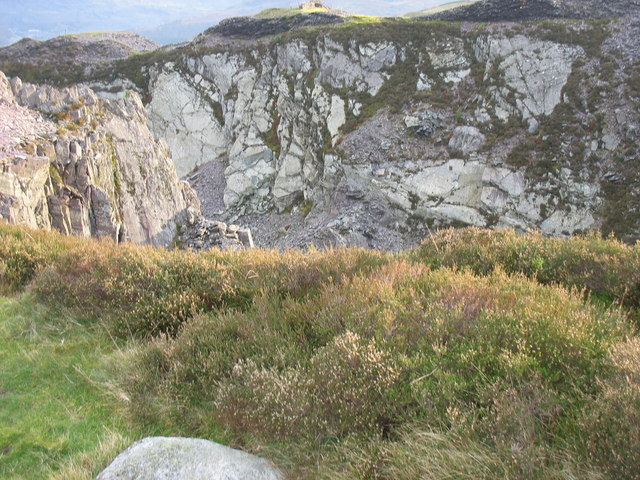 The east wall of Cefn Du Quarry