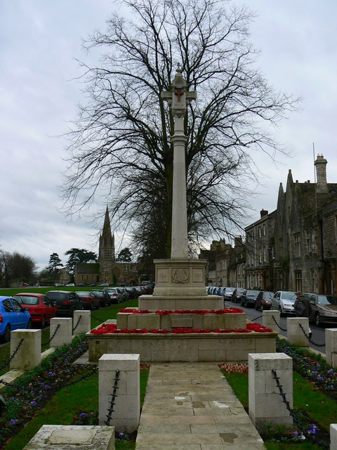 Witney War Memorial, Church Green, Witney