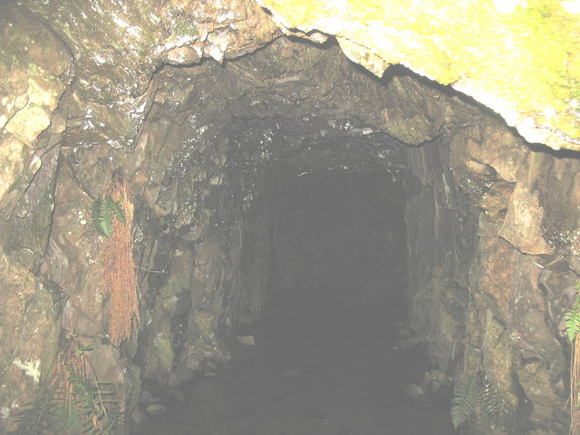 Inside the 'lefal' at Cefn Du Quarry