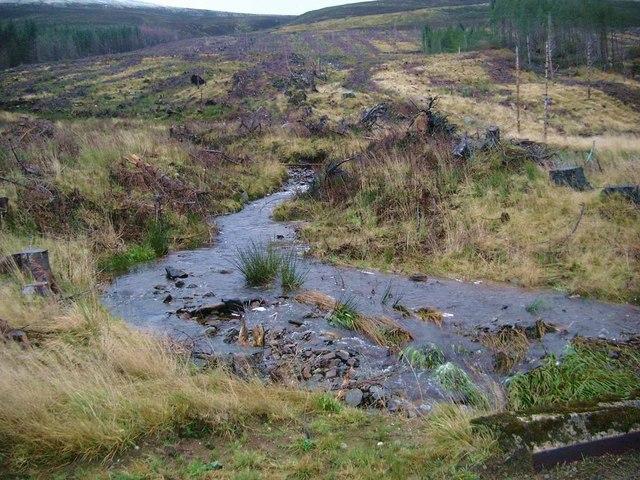 Burn running into Loch Morie