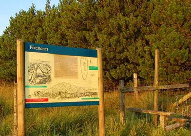 Pikestones information board