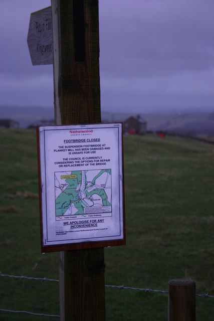 Footpath Sign with notice