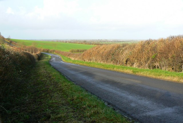 The road from Hannington to Castle Eaton, Wiltshire