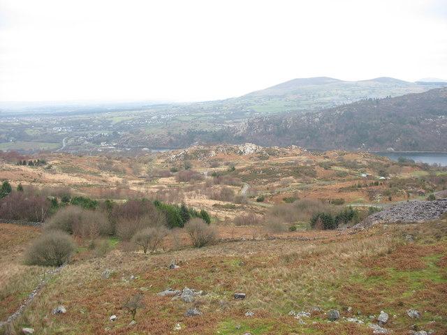 The Clegyr road from Cefn Du Quarry