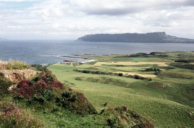Fertile fields of Gallanach Farm
