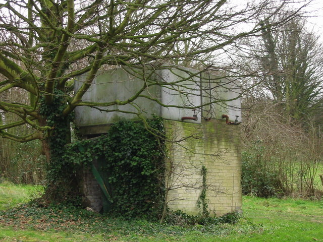 Farm storage tank.