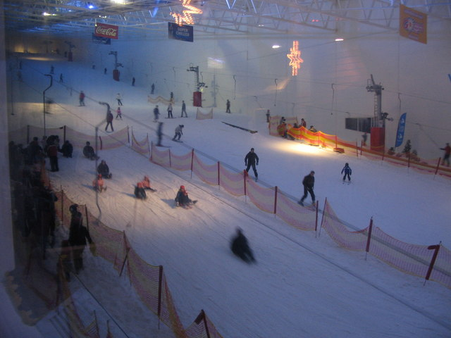 Snow slope at  Xscape