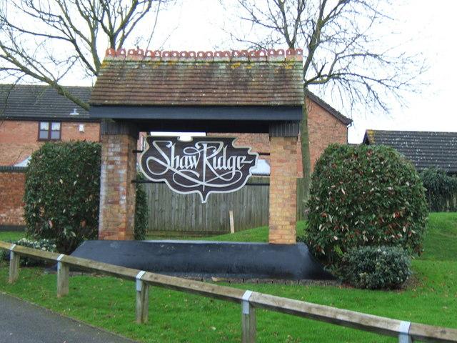 Estate entrance sign at Shaw Ridge