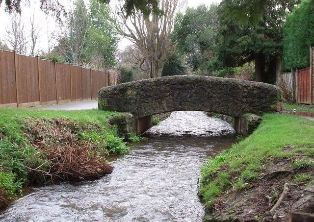Brook & Footbridge, The Parks, Minehead