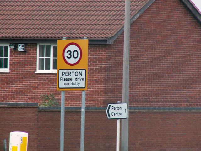 Perton Sign