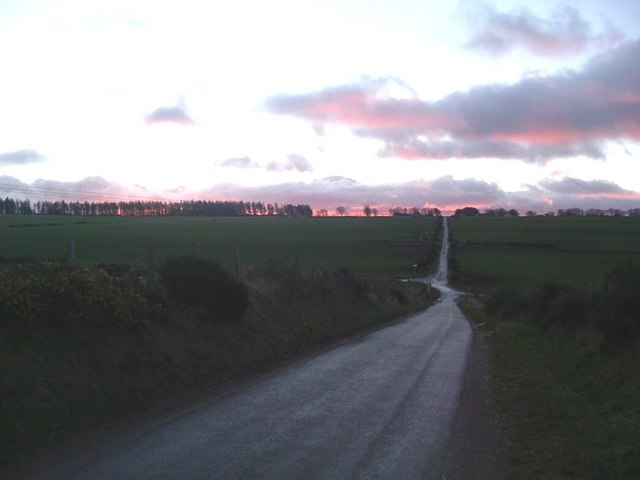 Red sky in the morning at Foggie Brae