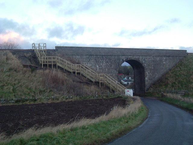 Arch of railway bridge at Kirkton of Fetteresso