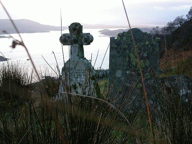 Gravestones above Loch Creran