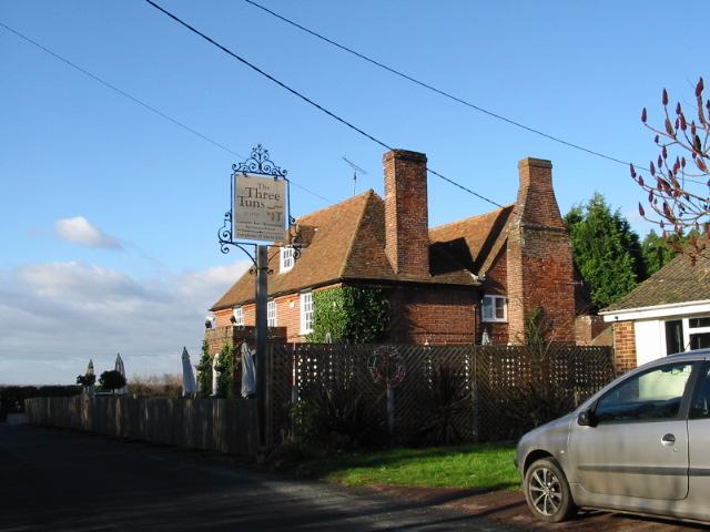 The Three Tuns pub, Staple.