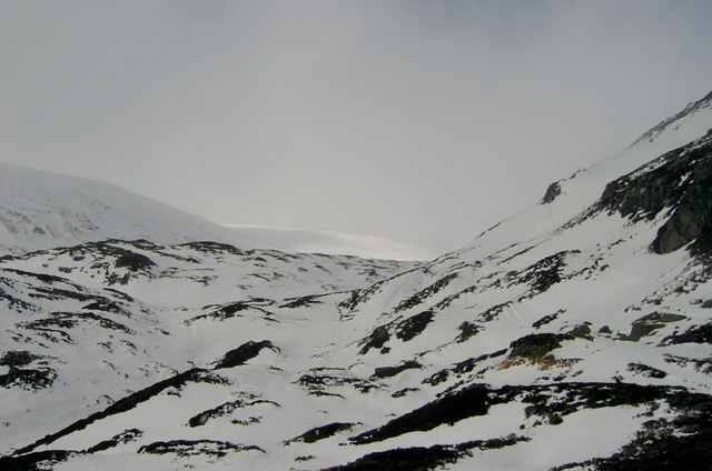 The valley of the White Water below Cairn Lunkard