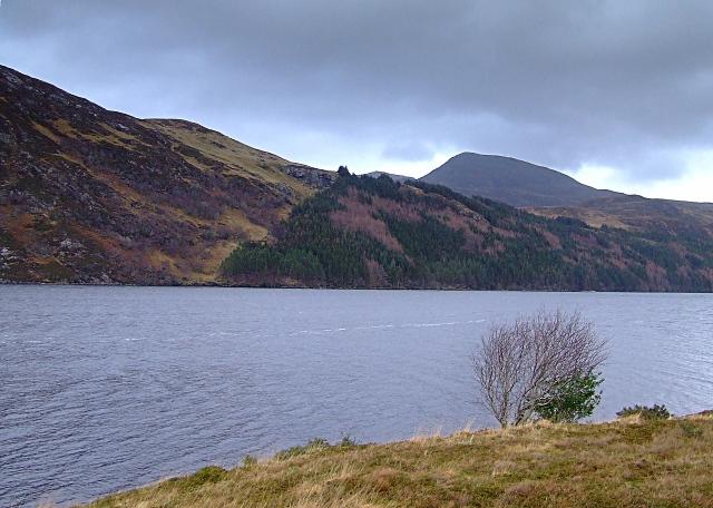 Looking across Loch More at Screavie