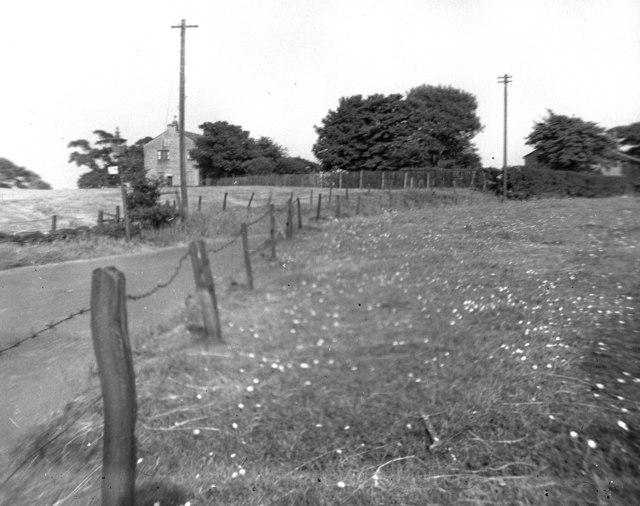 View at Broad Lane, Rochdale, Lancashire: 1949