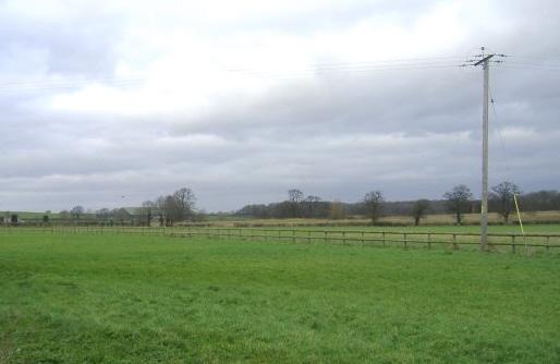Farmland to the north of Stanton