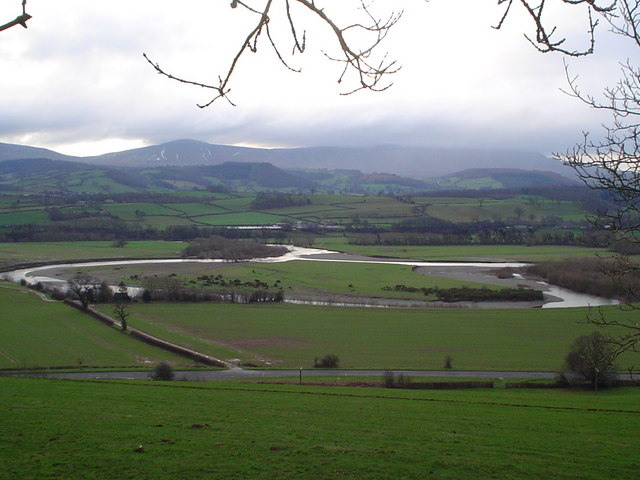 Oxbow lake starting to form on River Wye
