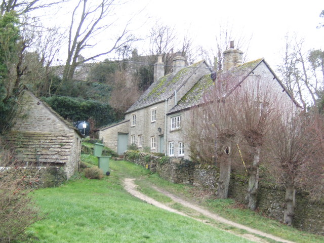 Cottages tucked into the hillside