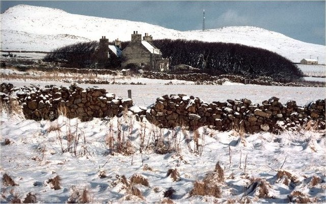Halligarth in the snow