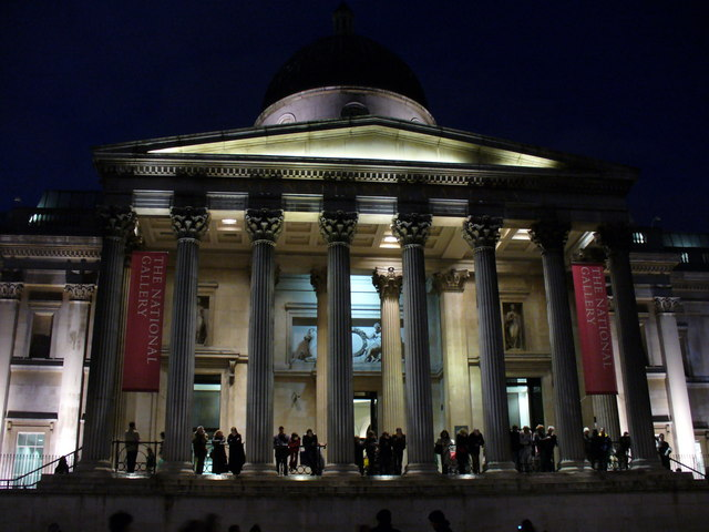 The National Gallery, Floodlit