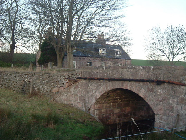 Bridge over a tributary drain to the Gormack Burn
