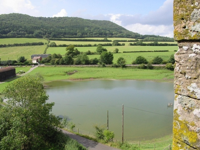 Pond from Stokesay Castle