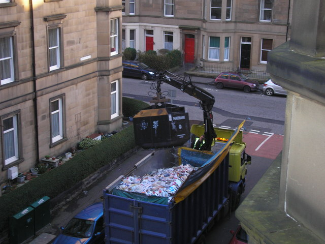 Recycling in Mertoun Place