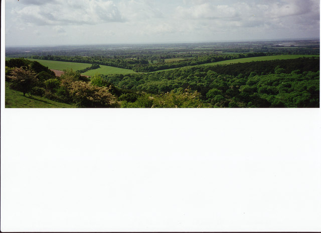 View south from Bow Hill, Kingley Vale