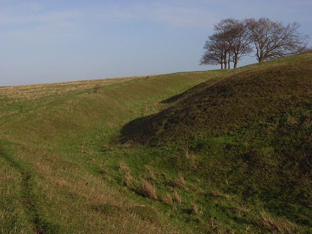 Fort earthworks, Ladle Hill
