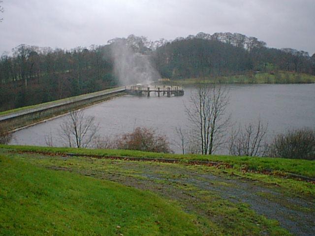 Ogston Dam Overflow Spray