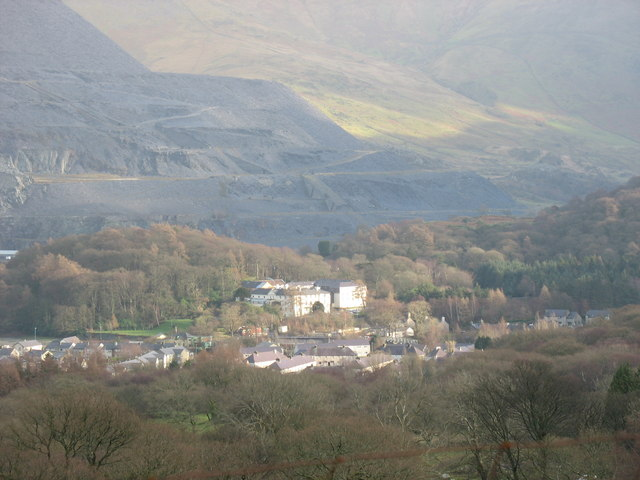 The Victoria Hotel from the mountain road