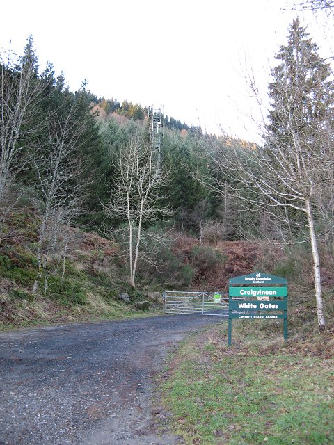 Entrance to Creagvinean Forest