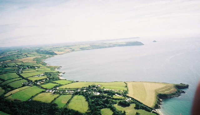 Aerial view from Paramotor of Gerrans Bay