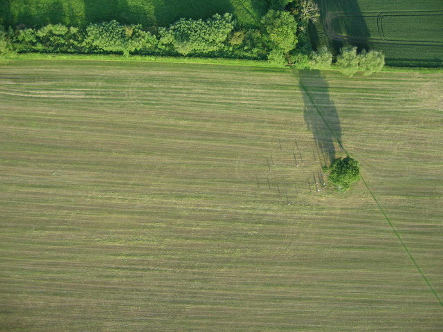 Aerial view from Paramotor of Field Near Faringdon