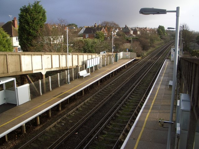 The Railway East of Collington Station, Bexhill
