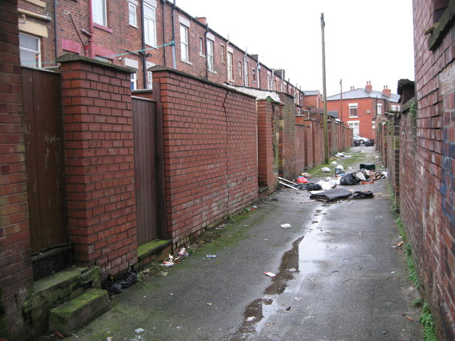 Rear of Waterloo Street  Oldham