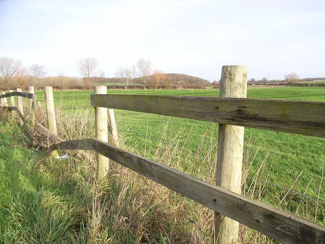 Over fields towards Kelham Hills