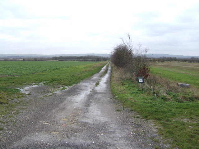 Track leading south towards South Marston