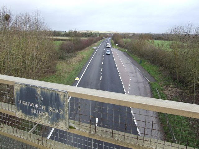 A420 Shrivenham bypass looking north-west towards Oxford