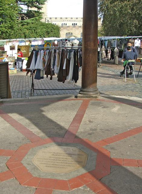 Enfield Market Commemorative Plaque