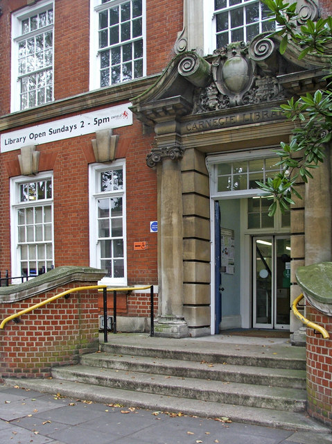 Entrance to Central Library, Enfield