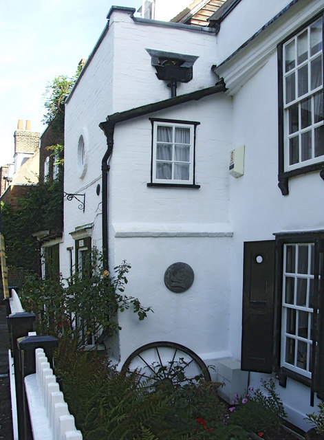 Charles Lamb and Mary Lamb black plaque - Charles and Mary Lamb  lived here